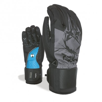 Level Switch black grey gloves