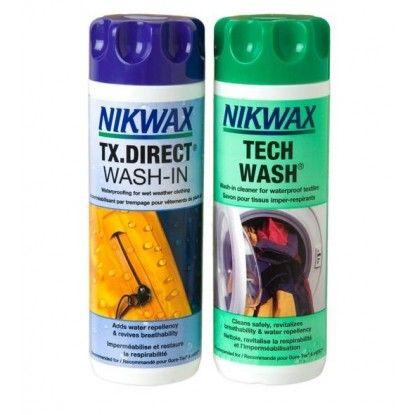 Skalbiklių rinkinys Nikwax Combo Wash/Direct