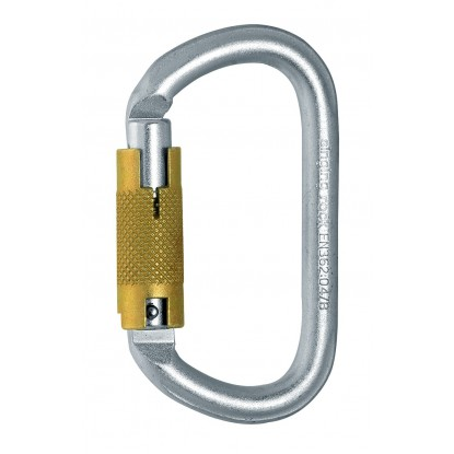 Karabinas Singing Rock OVAL STEEL triple lock