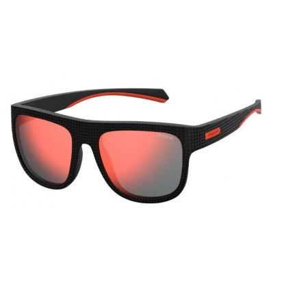 Polaroid 7023/S Black Red Gold sunglasses