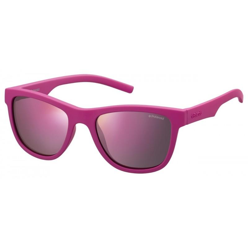 Polaroid PLD 8018/S pink junior sunglasses