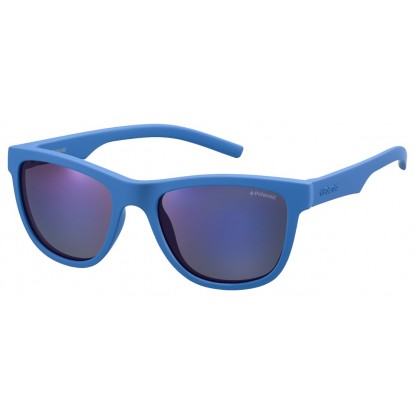 Polaroid PLD 8018/S blue junior sunglasses