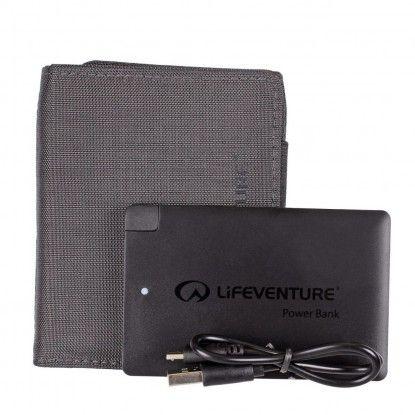 Piniginė su pakrovėju Lifeventure RFiD Charger Wallet