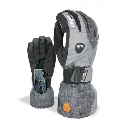 Level Fly Tartan-Grey glove with protection