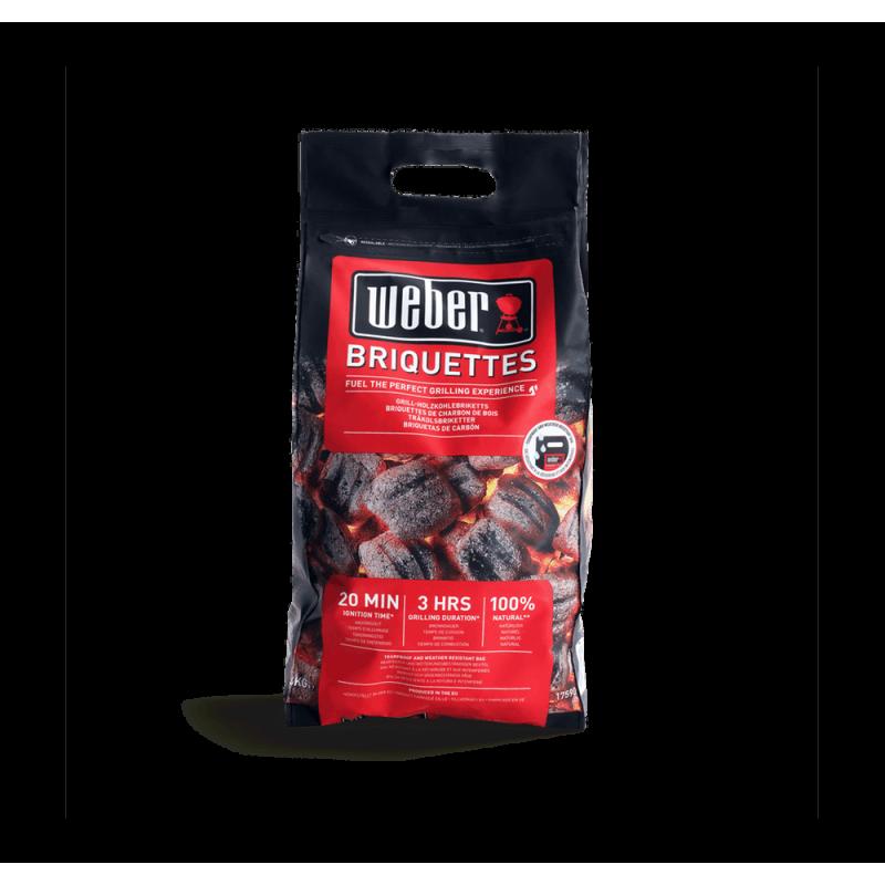 Presuoti anglies briketai Weber Briquettes, 4kg