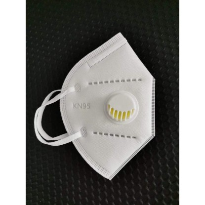 Sertifikuota apsauginė veido kaukė su kvėpavimo ventiliumi KN95 CE apsauga nuo viruso COVID-19