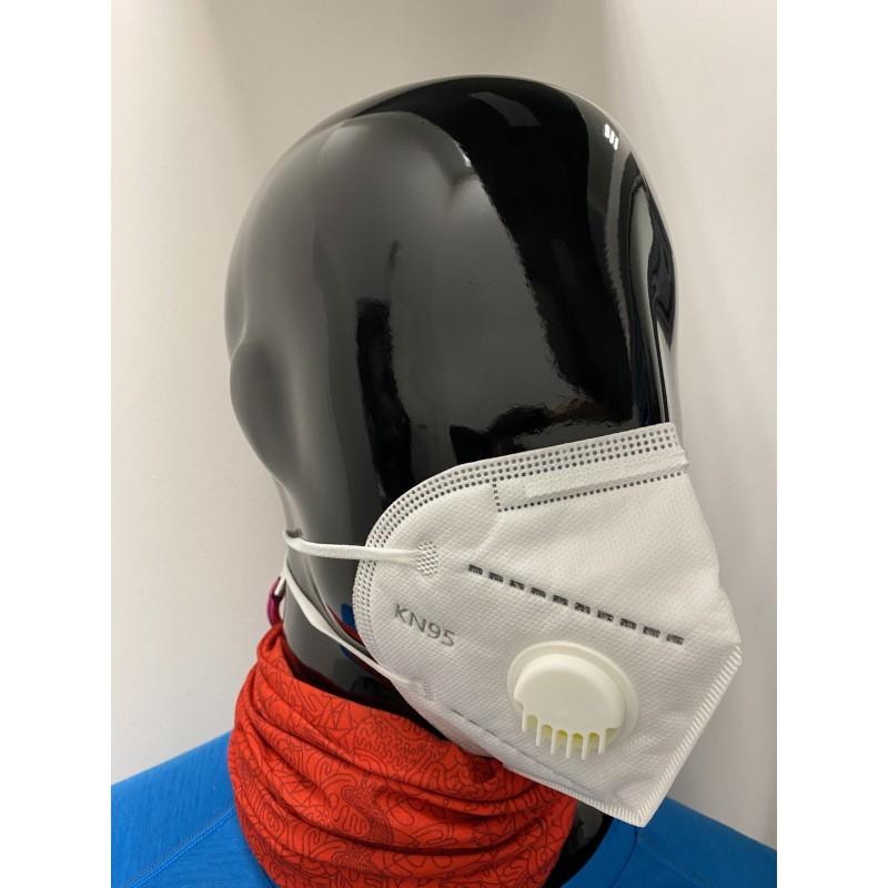 Apsauginė veido kaukė-respiratorius su kvėpavimo ventiliumi KN95 CE