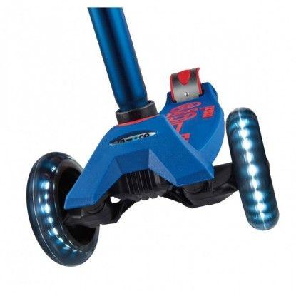 Paspirtukas Maxi Micro Deluxe Blue LED