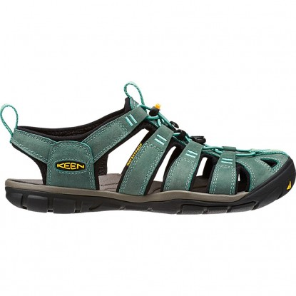 Sandalai Keen Clearwater CNX Leather W mineral blue / yellow