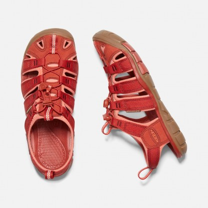 Keen Clearwater CNX W sandals dark red / coral