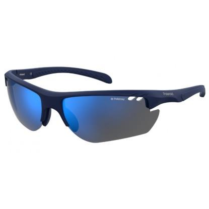 Polaroid 7026/S matt blue sunglasses
