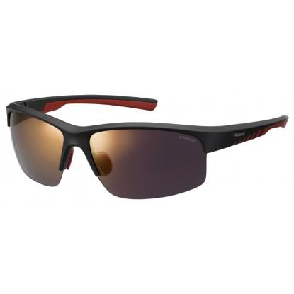 Polaroid 7018/S black red gold sunglasses