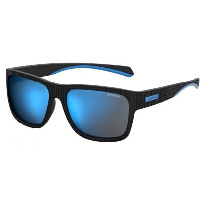 Polaroid 7025/S black turq sunglasses