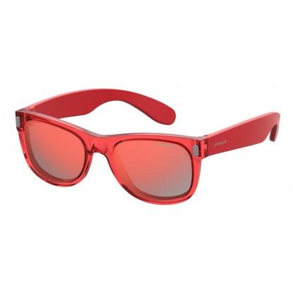 Vaikiški akiniai Polaroid Kids P0115 crystal red