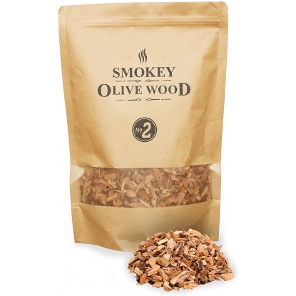 Smokey Olive Wood 1.7L Smoking Chips Orange
