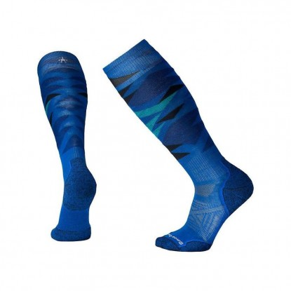 Skiing socks Smartwool PhD Ski Light Pattern bright blue