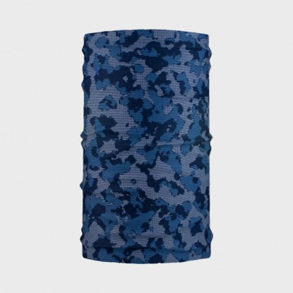WDX Tubularwind digital camo blue neck gaiter