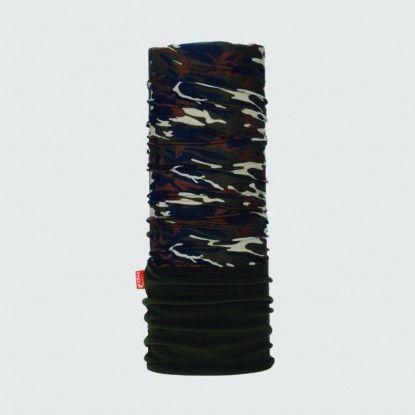 WDX Polarwind camouflage kaki neck gaiter