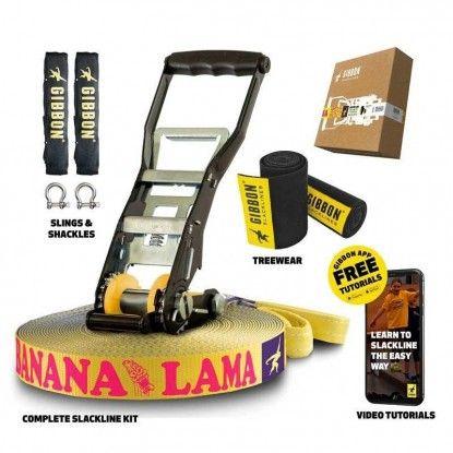 Slackline Gibbon Banana Lama XL TreeWear Set 25m/5cm